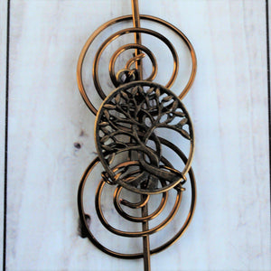Celtic Tree of Life Shawl Pin - Charmed Bronze-Shawl Pin-Crafty Flutterby Creations