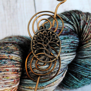 Shawl Pin, Celtic Tree of Life Shawl Pin - Charmed Bronze - Crafty Flutterby Creations