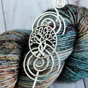 Shawl Pin, Celtic Tree of Life Shawl Pin - Charmed Silver - Crafty Flutterby Creations