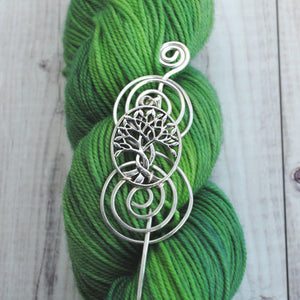 Celtic Tree of Life Shawl Pin - Charmed Silver-Shawl Pin-Crafty Flutterby Creations