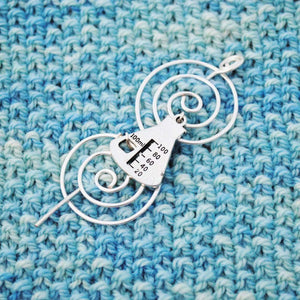 Shawl Pin, Chemistry Shawl Pin - Charmed Silver - Last Chance - Crafty Flutterby Creations