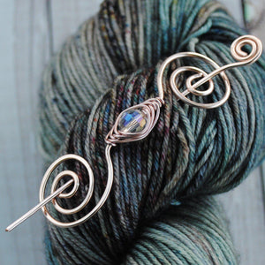 Classy in Crystal - Mini Shawl Pin-Shawl Pin-Crafty Flutterby Creations