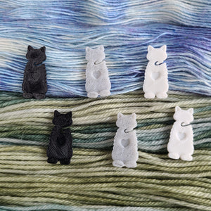 Crafty Cats - End Minders for Knit and Crochet-Useful Accessories-Crafty Flutterby Creations