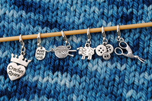 Useful Accessories, Crochet Progress Keepers, Stitch Markers, or Zipper Pulls - Crafty Flutterby Creations