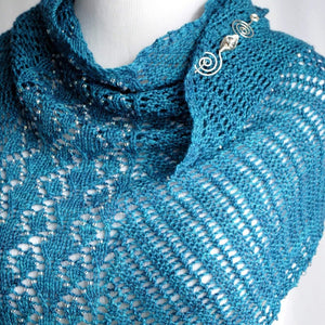 Pattern, Crystal Helix Shawl Knitting Pattern PDF Download - Crafty Flutterby Creations