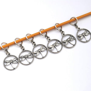 Useful Accessories, Discontinued- Dragonfly Stitch Markers Set of 6 - Crafty Flutterby Creations