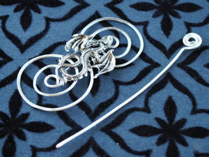 Shawl Pin, Dragon Shawl Pin - Charmed Silver Fandoms - Crafty Flutterby Creations