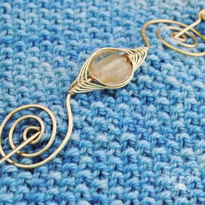 Shawl Pin, Gold Shawl Pin - Large Gold - Crafty Flutterby Creations