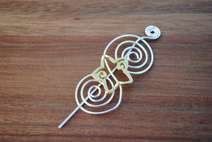 Shawl Pin, Gold Star Shawl Pin - Charmed - Crafty Flutterby Creations