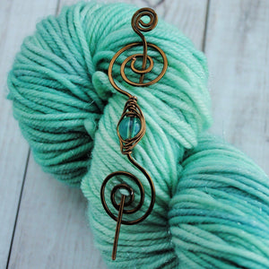 Gorgeous in Green - Mini Shawl Pin-Shawl Pin-Crafty Flutterby Creations