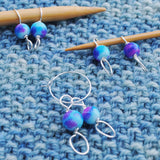 Useful Accessories, Turquoise and Purple Stitch Marker Set of 6 - Crafty Flutterby Creations