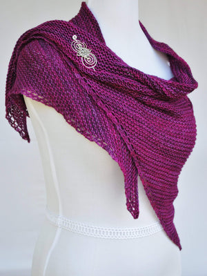 Pattern, Intrepid Ardor PDF Knitting Pattern for Cabled Shawl - Crafty Flutterby Creations