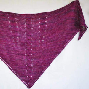 Intrepid Ardor PDF Knitting Pattern for Cabled Shawl-Pattern-Crafty Flutterby Creations