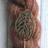 Leaf Shawl Pin - Charmed Bronze-Shawl Pin-Crafty Flutterby Creations