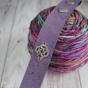 Shawl Cuff, Lilac Celtic Shawl Cuff - Charmed - Crafty Flutterby Creations