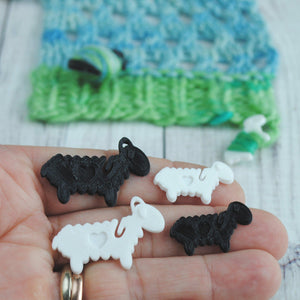 Useful Accessories, Lovable Lambs - End Minders for Knit or Crochet - Crafty Flutterby Creations