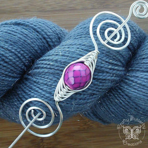 Luck Dragon Scales Shawl Pin - Noteworthy Silver - Last Chance!-Shawl Pin-Crafty Flutterby Creations