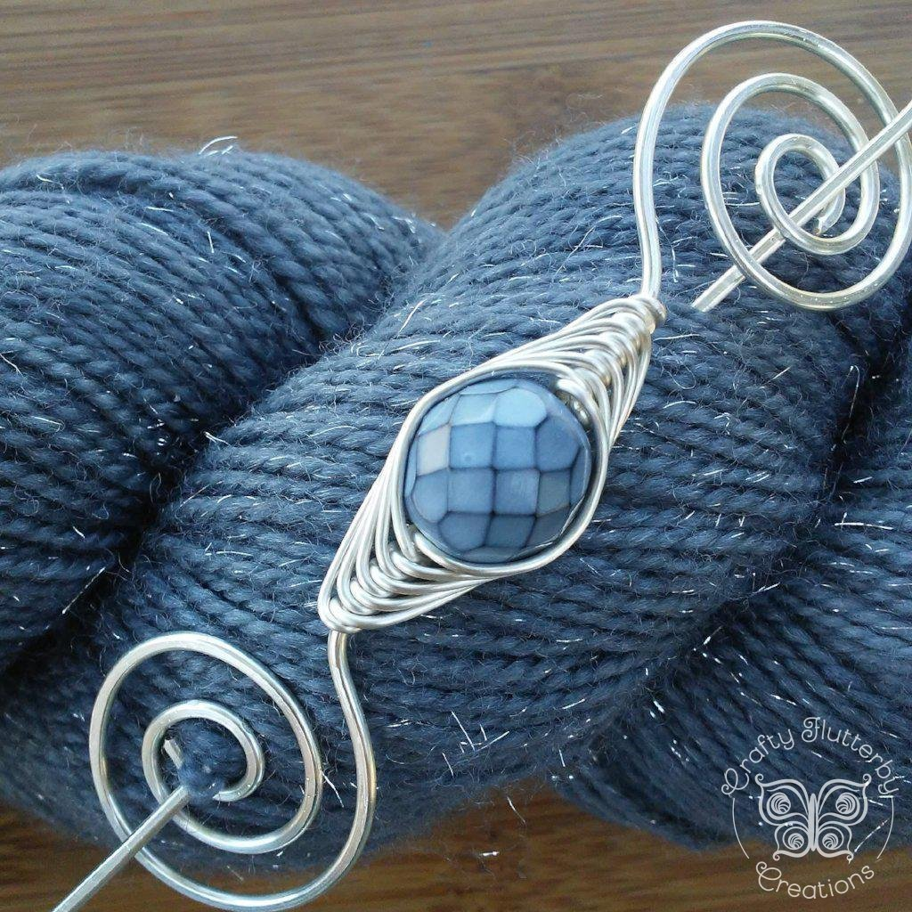 Shawl Pin, Moon Dragon Scales Shawl Pin - Noteworthy Silver - Last Chance! - Crafty Flutterby Creations