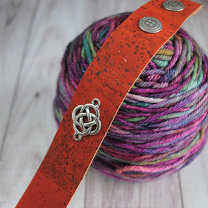Shawl Cuff, Orange Celtic Shawl Cuff - Charmed - Crafty Flutterby Creations