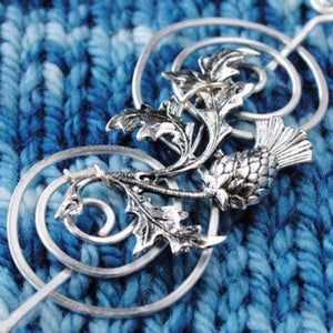 Outlander Inspired Shawl Pin with Scottish Thistle - Charmed Silver Fandoms-Shawl Pin-Crafty Flutterby Creations