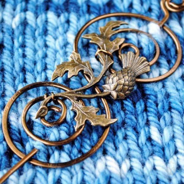 Outlander Shawl Pin - Charmed Bronze Fandoms-Shawl Pin-Crafty Flutterby Creations