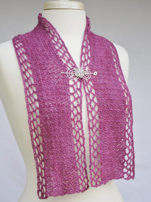 Pattern, PDF Dappled Sea Hooked Crochet Scarf Digital Download - Crafty Flutterby Creations
