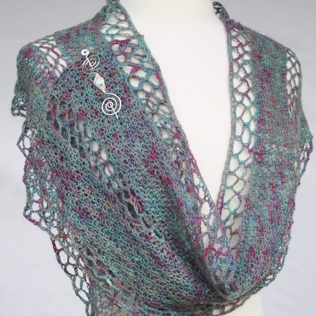 PDF Dappled Sea Hooked Crochet Scarf Digital Download-Pattern-Crafty Flutterby Creations
