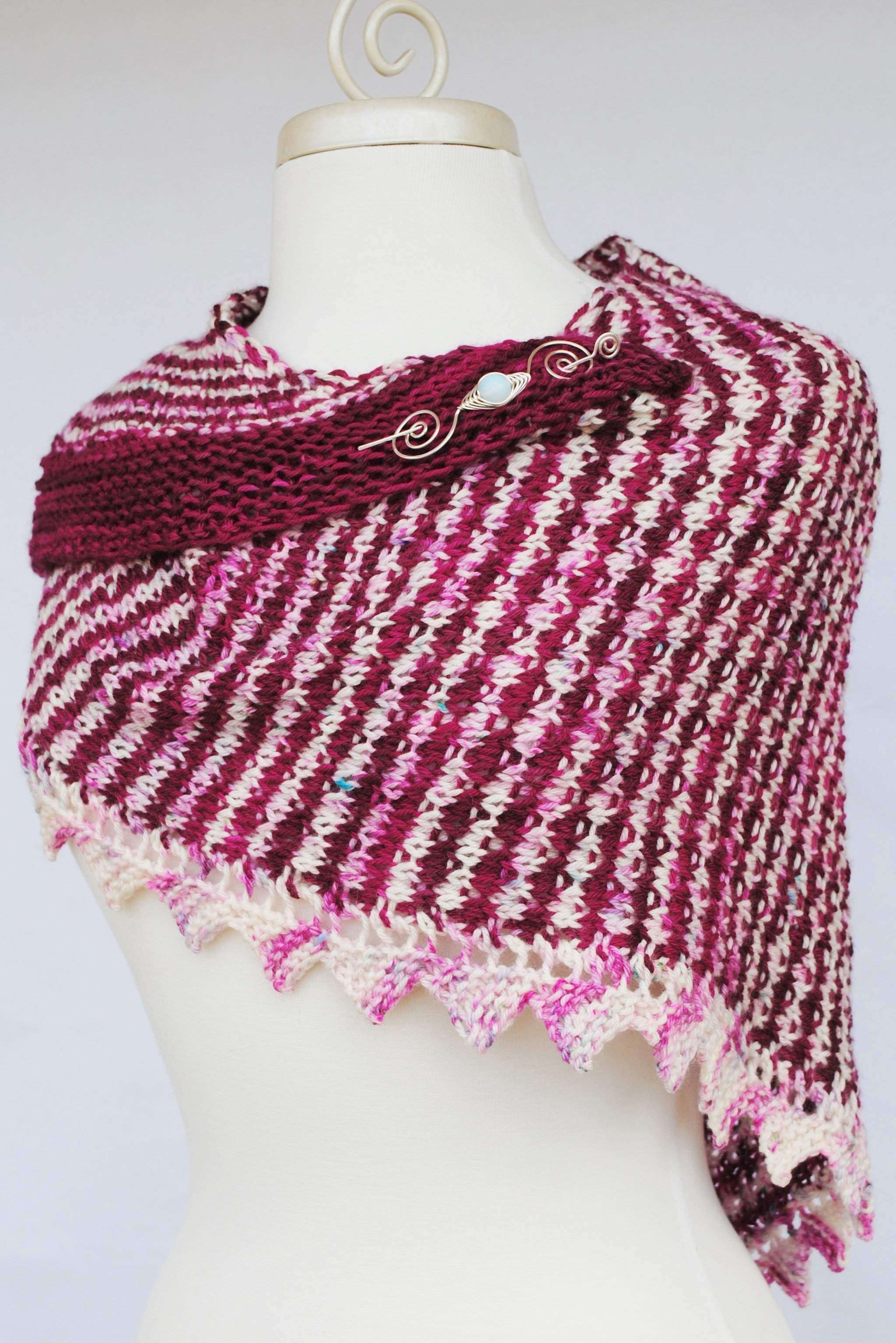 PDF Mercurial Stripes Shawl Knitting Pattern Digital Download ...