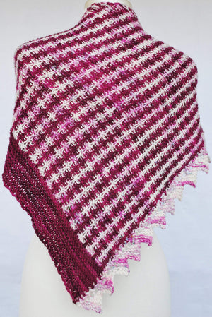 Pattern, PDF Mercurial Stripes Shawl Knitting Pattern Digital Download - Crafty Flutterby Creations
