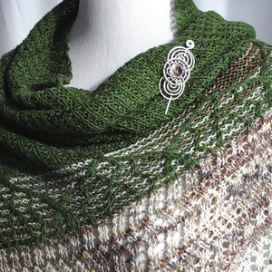 Pattern, Pendean Knit Shawl PDF Pattern Download - Crafty Flutterby Creations