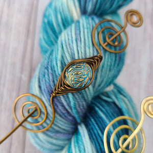 Pre-Order - Laurel Leaves - Maryland Sheep and Wool Exclusive Shawl Pin - Noteworthy Czech Glass-Shawl Pin-Crafty Flutterby Creations