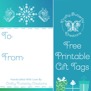 Gift Tag, Printable Christmas Gift Tags - Crafty Flutterby Creations