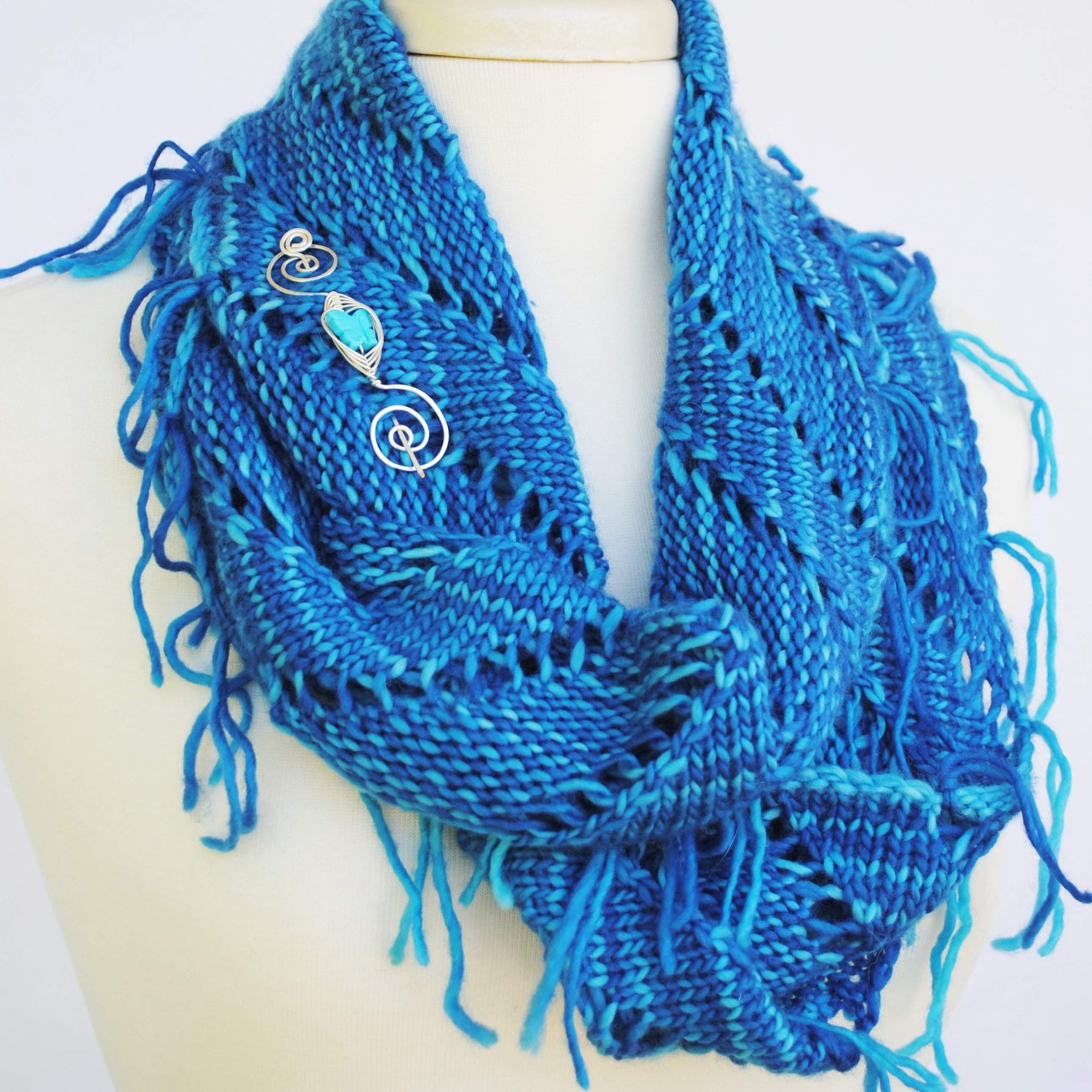 Rip Tied Knit Infinity Scarf Pdf Pattern Download Crafty Flutterby
