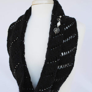 Pattern, Rip Tied Knit Infinity Scarf PDF Pattern Download - Crafty Flutterby Creations