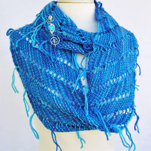 Rip Tied Knit Infinity Scarf PDF Pattern Download-Crafty Flutterby Creations