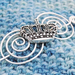 Shawl Pin, Royal Shawl Pin - Charmed Silver Fandoms - Crafty Flutterby Creations