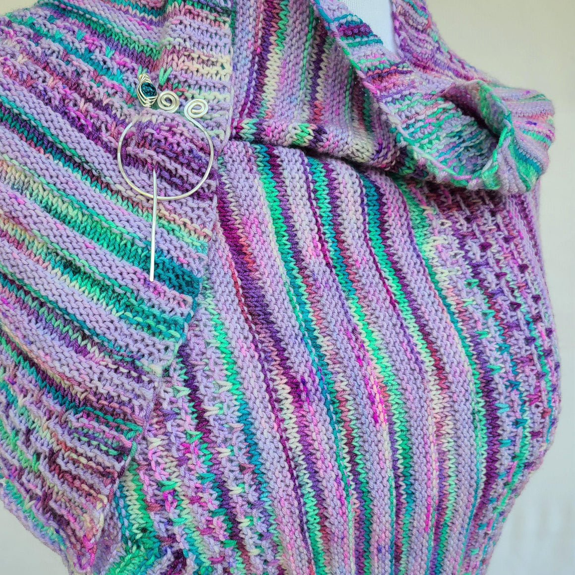 Savvy Slips PDF Knitting Pattern Download Easy Shawl-Pattern-Crafty Flutterby Creations