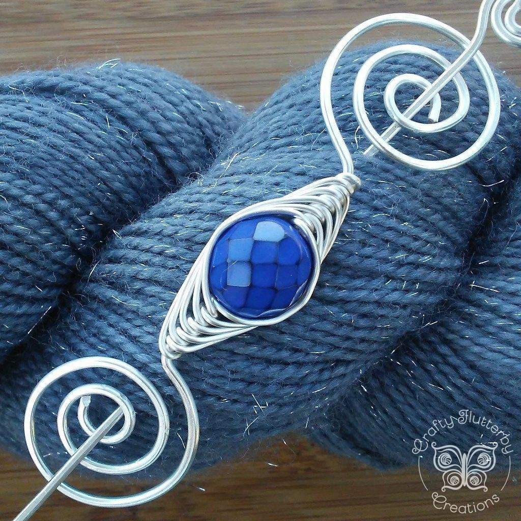 Sea Dragon Scales Shawl Pin - Noteworthy Silver - Last Chance!-Shawl Pin-Crafty Flutterby Creations