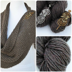 Shawl Kit Inspired by Outlander with Shawl Pin-Crafty Flutterby Creations