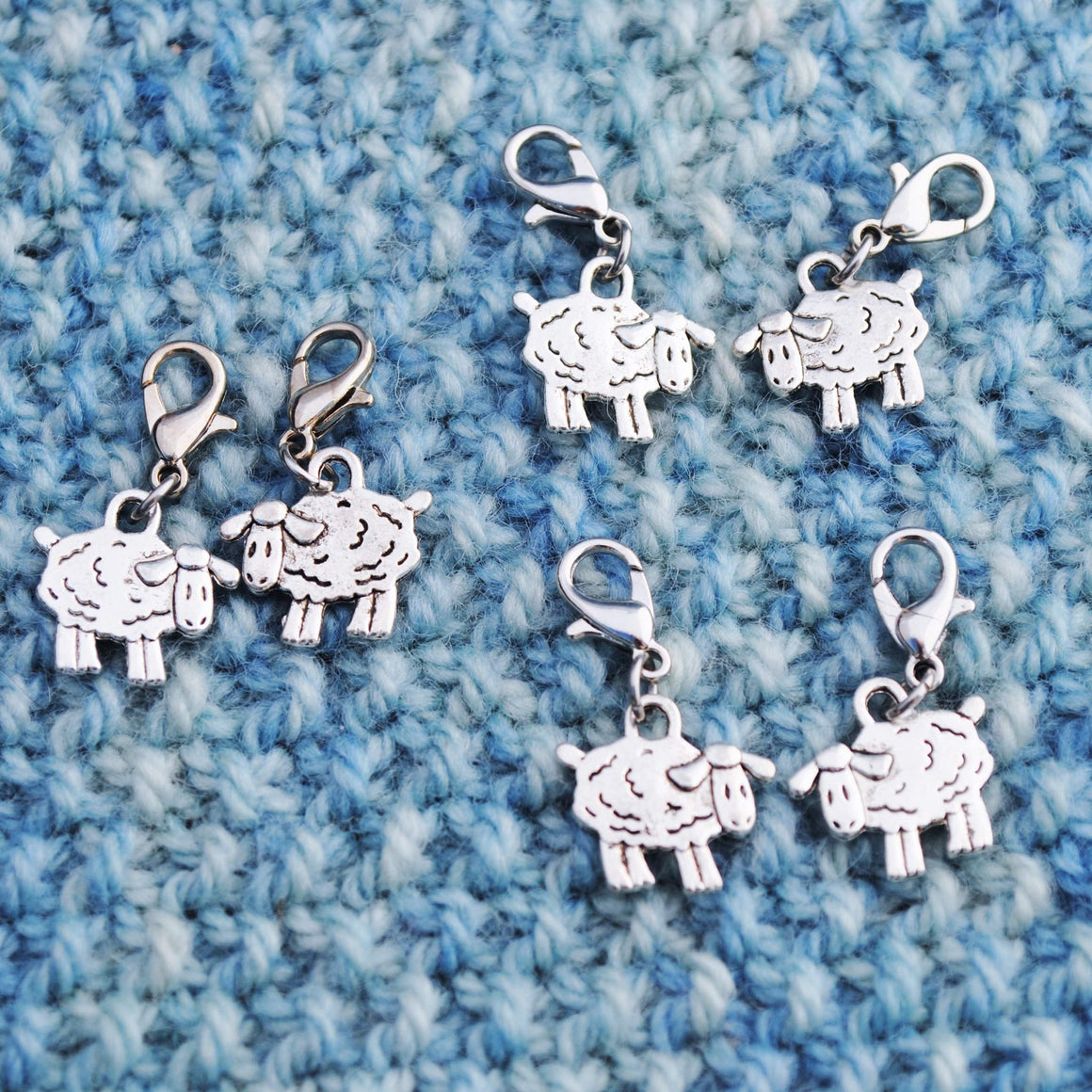 Useful Accessories, Sheep Progress Keeper, Stitch Markers or Zipper Pulls - Crafty Flutterby Creations