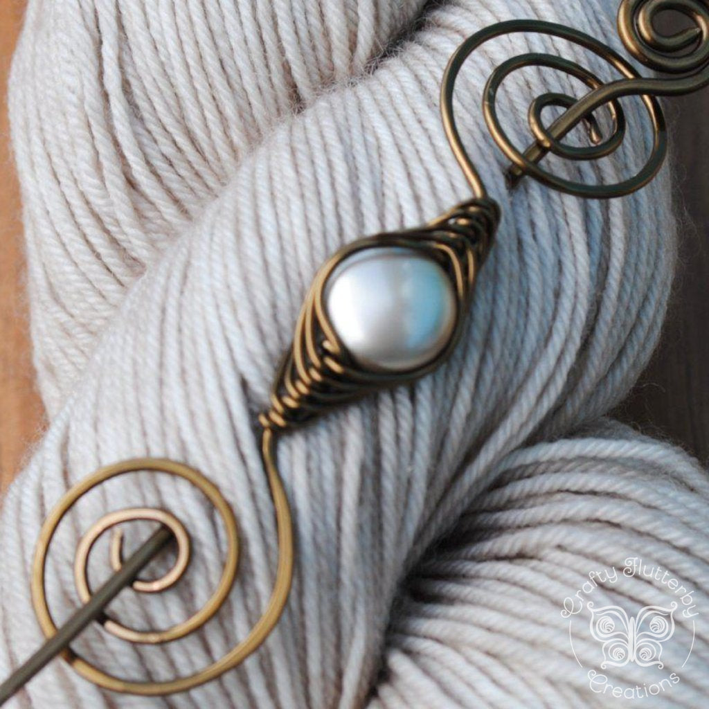 Shimmer Shawl Pin - Bronze Noteworthy Classic-Shawl Pin-Crafty Flutterby Creations
