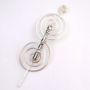 Shawl Pin, Sonic Screwdriver Shawl Pin - Charmed Silver Fandoms - Crafty Flutterby Creations