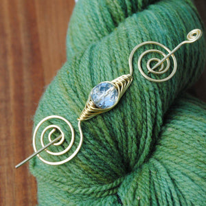 Shawl Pin, Sparkle Shawl Pin - Gold Noteworthy Classic - Crafty Flutterby Creations
