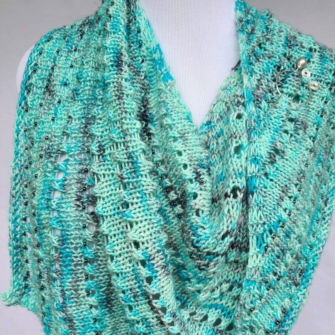 Stalwart Free Knit Shawl PDF Download-Pattern-Crafty Flutterby Creations