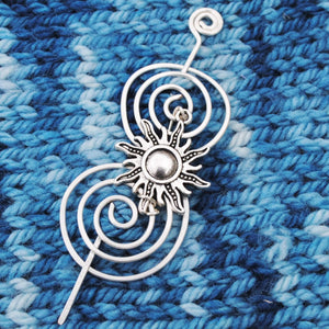 Sun Shawl Pin - Charmed Silver Inspirations-Shawl Pin-Crafty Flutterby Creations