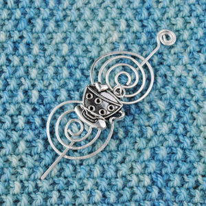Shawl Pin, Tea Cup or Coffee Mug Shawl Pin - Charmed Silver - Crafty Flutterby Creations