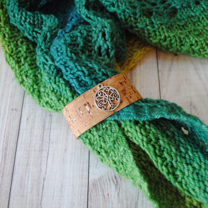 Tree of Life - Charmed Shawl Cuff-Shawl Cuff-Crafty Flutterby Creations