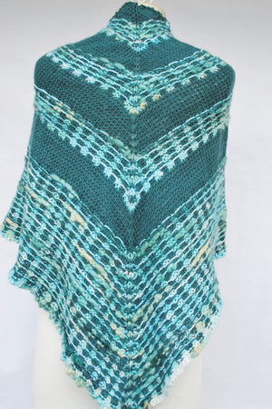 Pattern, Wavered Knit Shawl PDF Digital Download - Crafty Flutterby Creations