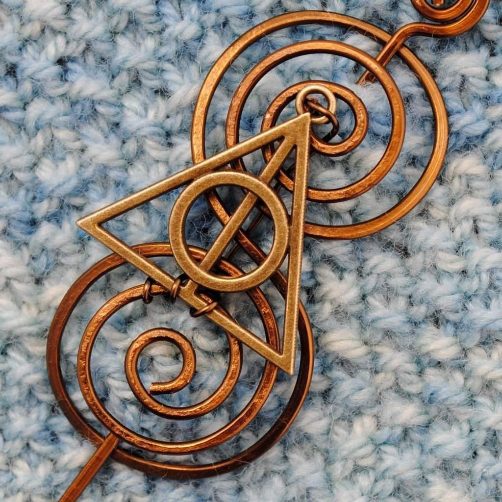 Shawl Pin, Wizard Shawl Pin - Charmed Fandoms Bronze - Crafty Flutterby Creations