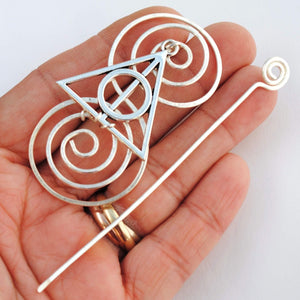 Wizard Shawl Pin - Charmed Fandoms Silver-Shawl Pin-Crafty Flutterby Creations